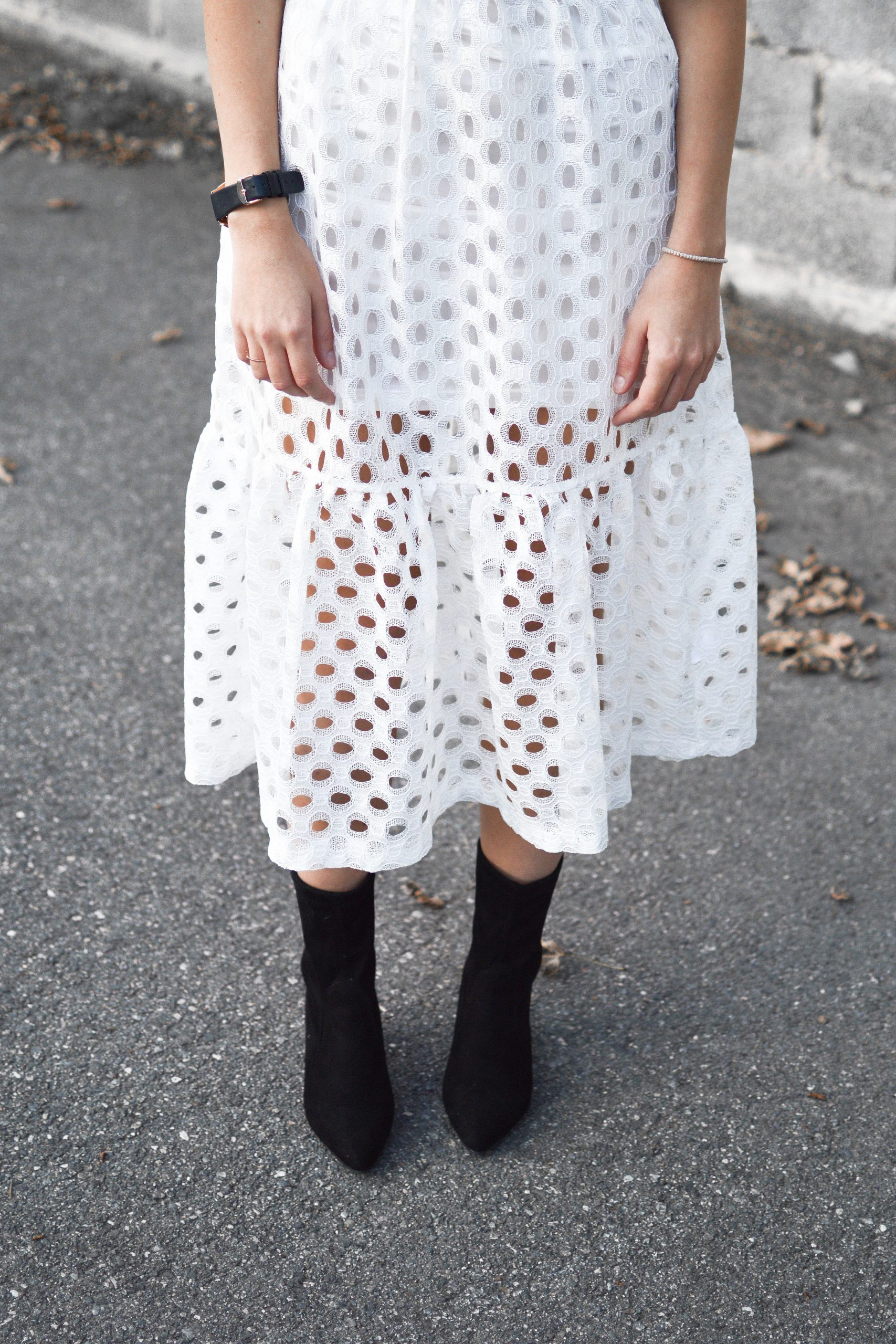 Dotted Lace Skirt